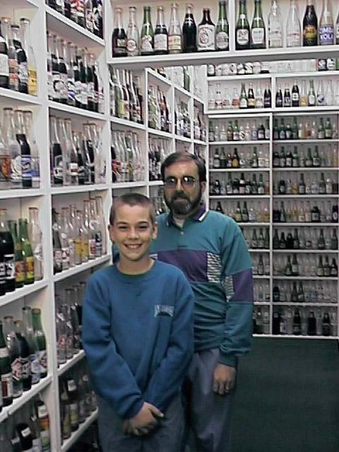 Chris and Ben in the Bottle Museum