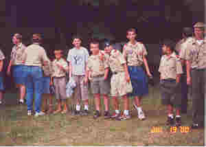 Ben Weide with Troop 39 at Camp Eastman, Nauvoo, Illinois;  Summer 2000.