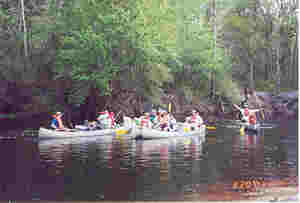 Troop 182 6-day Canoe Trip on St. Marys River, Mar. 2001