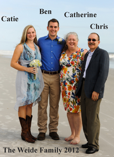 Catie, Ben, Catherine and Chris Weide; Jacksonville FL 2012