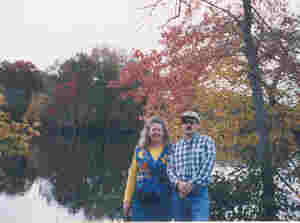 Chris Weide and Catherine Weide at the Biltmore Estate (Asheville, NC), Oct. 1998.