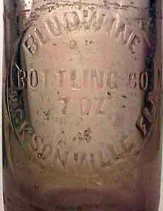 Pic. of 7 oz. Clear Bludwine Beverages bottle