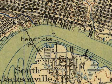 Sample from USGS Jacksonville 1918 Quadrangle