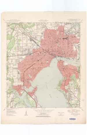 USGS Jacksonville 1950 Quadrangle