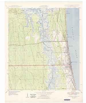USGS Jacksonville Beach 1949 Quadrangle