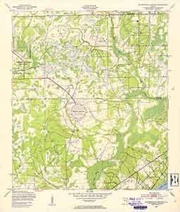 USGS Jacksonville Heights 1949 Quadrangle