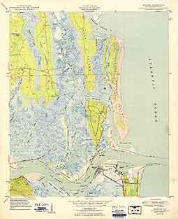 USGS Mayport 1950 Quadrangle