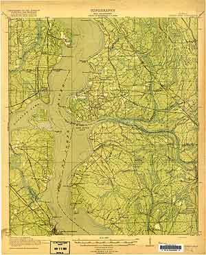 USGS Orange Park 1918 Quadrangle