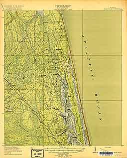 USGS Palm Valley 1918 Quadrangle