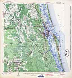 USGS St Augustine 1943 Quadrangle