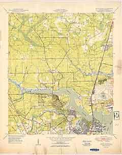 USGS Trout River 1950 Quadrangle